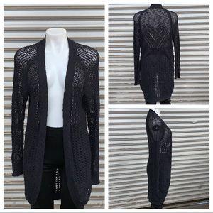 Roxy black long sleeve cardigan cotton blend
